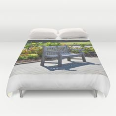 An Empty Bench Duvet Cover by Lanjee  http://society6.com/product/an-empty-bench-4ov_duvet-cover