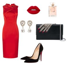 Untitled #126 by tamitamn on Polyvore featuring polyvore fashion style Christian Louboutin Alexander McQueen Dolce&Gabbana Chanel clothing