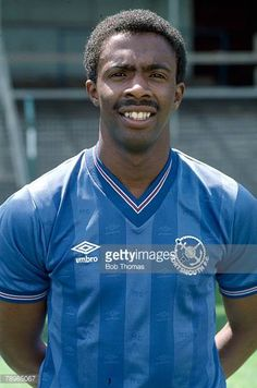 Vince Hilaire of Portsmouth in Football Icon, Retro Football, Football Photos, Football Cards, Football Jerseys, Football Players, England Shirt, British Football, Everton Fc