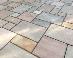 Raj Green Sandstone is one of the most popular choices of Indian Sandstone Paving for patios. Its natural surface boasts a medley of supple, earthy hues, including green and brown, dappled with occasional plum and grey tones. See more on our website! Sandstone Paving Slabs, Sandstone Cladding, Beautiful Soup, Beautiful Gardens, Patio Kits, Driveway Ideas, Patio Ideas, Outdoor Ideas, Back Gardens