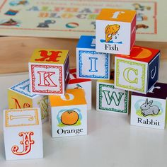Help me learn my letters and build a tower!