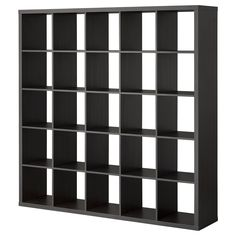 IKEA - KALLAX, Shelf unit, black-brown, , You can use the furniture as a room divider because it looks good from every angle.
