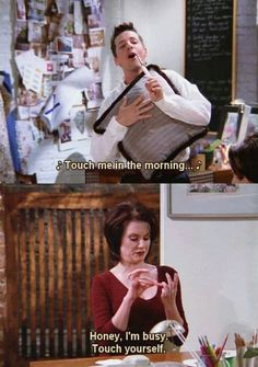 Jack and Karen -- Will and Grace-love this show! Tv Show Quotes, Movie Quotes, Funny Quotes, Karen Will And Grace, Karen Walker Quotes, Anastasia Beaverhausen, Grace Quotes, Grace Meme, Dump A Day