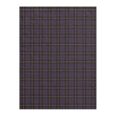 Plum purple plaid black/yellow/gold fleece blanket - gold gifts golden customize diy