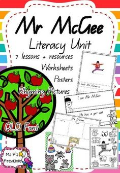 It is time to rhyme! Mr McGee is an all time favourite story in Australian classroom. This unit includes a huge variety of activities and resources to keep your students entertained all week long. The following activities are included in this pack:1. Book review2.