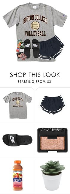 """""""love being a tough girl 💁🏽♀️"""" by rxindrops-on-roses ❤ liked on Polyvore featuring NIKE, NARS Cosmetics, Polaroid and M&Co"""