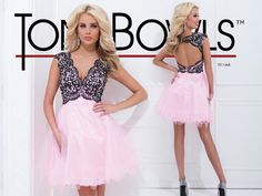 Tony Bowls Shorts Dress TS11465 @Tony Bowls - Prom Dress Designer Gorgeous pink and black!