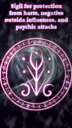 Wolf Of Antimony Occultism Sigil for protection from harm, negative outside influences, and psychic attacks Rune Symbols, Magic Symbols, Symbols And Meanings, Ancient Symbols, Egyptian Symbols, Protection Sigils, Symbole Protection, Wicca Witchcraft, Magick Spells