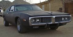 1974 Dodge Charger - 318 - bored out 40 over with a custom racing cam and headers. Old Skool Black, Black Flats, Plymouth, Mopar, Muscle Cars, Cool Cars, Classic Cars, Dodge Chargers, Racing