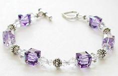 Bracelet featuring Swarovski crystal beads