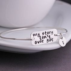 My Story Isn't Over Bracelet. Suicide prevention and awareness. Love this!