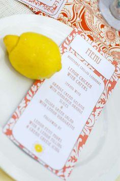 Lemony Ladies Luncheon | CatchMyParty.com