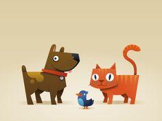 Cats 'n' Dogs... and a bird! by Bram Zwinnen [ZWAM]