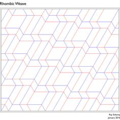 Rhombic Weave CP | Flickr - Photo Sharing!