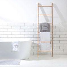 Decorative Bathroom Bamboo Ladder Towel Storage Rack Hanger Home Dressing Room 880927197584 Bathroom Ladder, Bathroom Towel Rails, Bamboo Bathroom, Bathroom Storage, Kmart Bathroom, Spa Bathrooms, Bathroom Shop, Downstairs Bathroom, Towel Storage