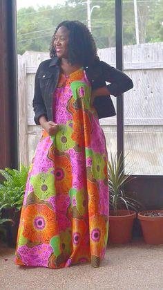 African Print Fashion, Fashion Prints, Cami, Sewing Patterns, Saree, Dresses, Vestidos, Sari, Dress