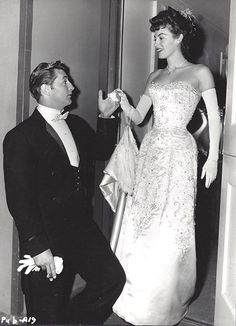 Robert Mitchum and Ava Gardner on the set of My Forbidden Past (1951)