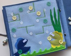 Quiet book PAGE maze, busy book, activity book, sensory toy for kids, girls, boys