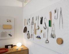 Jasper Morrison - really like the white peg board. Can be used in so many applications around the home - practical and aesthetic.