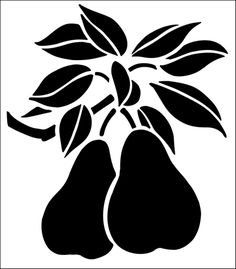 Pears stencil from The Stencil Library GENERAL range. Buy stencils online. Stencil code 136.