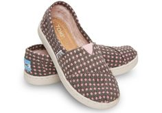Grey Wool Dot Youth Classics | TOMS