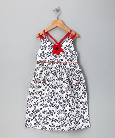 Take a look at this Navy Cross-Back Dress - Toddler & Girls by Willoughby on #zulily today!