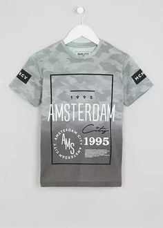 Boys Palm Print T-Shirt (9-16yrs) Palm Print 0566367e16a78