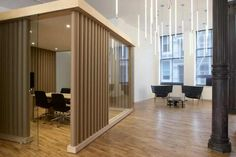 Wondrous Minimalist Interior Design with Room Divider Ideas Divider Design Cool Office Space, Office Space Design, Loft Office, Open Office, Office Meeting, Meeting Rooms, Wood Partition, Partition Ideas, Ny Loft