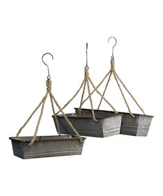 Another great find on #zulily! Metal Hanging Planter - Set of Three by VIP #zulilyfinds