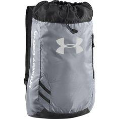 Under Armour Trance Sackpack is a great player pack with a front pocket for a soccer ball. The sackpack also includes side zippered pocket. Under Armour Brand, Under Armour Shoes, Under Armour Outlet, Under Armour Backpack, Grey Backpacks, Soccer Shop, Soccer Equipment, Rucksack Bag, New Handbags
