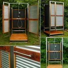We can't wait to shower alfresco style with this stylish outdoor shower