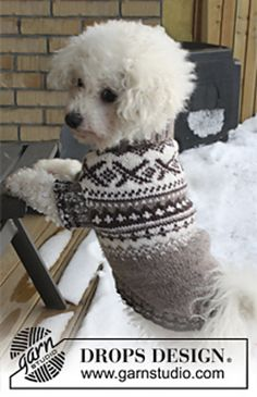 Ravelry: 0-836 Dog's jumper with Norwegian pattern in Karisma pattern by DROPS design