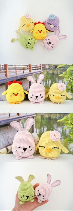 Easter Bird, Bunny And Chicken Amigurumi Pattern