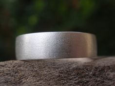 mens wedding ring - brushed / satin finish wedding band for men and women in sterling silver - 5mm - made to order - handmade jewelry on Etsy, $55.00