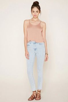 High-Waisted Skinny Jeans #f21denim