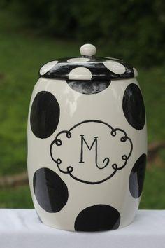 """Polka dot """"M Cookie Jar"""