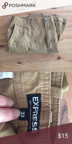 Brown Express Shorts Brown shorts from Express, size 33 waist in excellent condition. Express Shorts Flat Front