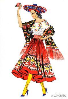 Mexican China Poblana dress.