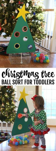 Tree Ball Sort for Toddlers - I Can Teach My Child! Christmas Tree Ball Sort for Toddlers - I Can Teach My Child!,Christmas Tree Ball Sort for Toddlers - I Can Teach My Child! Christmas Crafts For Toddlers, Toddler Crafts, Holiday Crafts, Holiday Fun, Christmas Tree With Toddler, Christmas Activities For Preschoolers, Christmas Activities For Children, Childrens Christmas Crafts, Spring Crafts