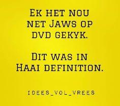 Haai definition.....