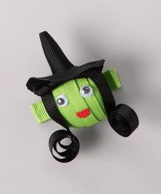 Take a look at this Black & Green Witch Clip on zulily today!