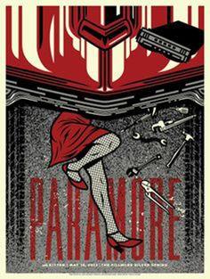 Lazy Labrador Records - Paramore Fillmore Silver Spring Silkscreen Poster by El Jefe, $89.99 (http://lazylabradorrecords.com/paramore-fillmore-silver-spring-silkscreen-poster-by-el-jefe/)