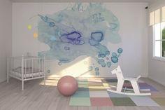 Les murs sont toujours de merveilleux supports pour laisser libre cours à son imagination....ils ont connu pêle-mêle les papiers-peints unis, bariolés même