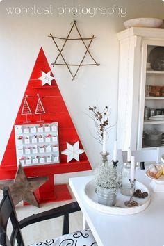 arbol+navidad+rojo+madera.jpg (600×900)