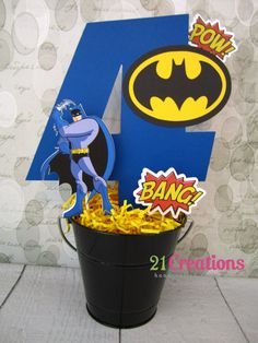 Batman Centerpiece on Etsy, $24.00
