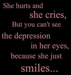 She hides behind the smiles