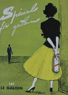 Eau Le Galion - Spécial for Gentlemen – Rue Marcellin Vintage French Posters and Prints