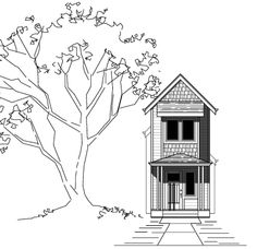 I Stock House Plans: The Cascadia 1052 - 3 bed, 1.5 bath, 1009 square f...