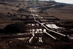 A natural gas pipeline is seen under construction near East Smithfield in Bradford County, Pennsylvania. Bradford County is at ground zero for fracking the Marcellus shale in the Northeastern United States.