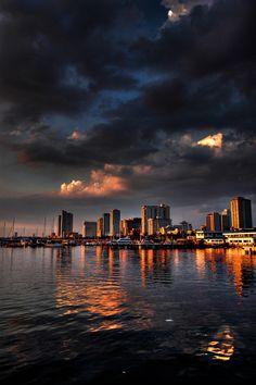 Manila at sunset
